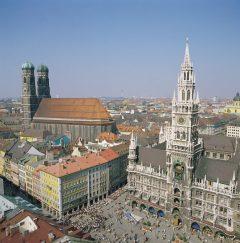 Marienplatz, Neues Rathaus, Altstadt, München, Bayern, Sør-Tyskland, Tyskland