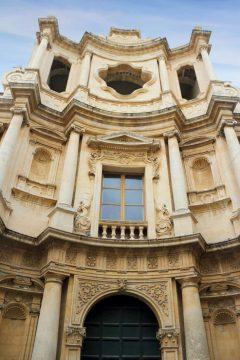 Chiesa San Carlo Borromeo, Barokken, Noto, Sicilia, Italia