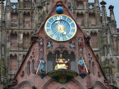 Frauenkirches Männleinlaufen, Nürnberg, Bayern, Unesco Verdensarv, Altstadt, Historisk, Middelalder, Marktplatz, Sør-Tyskland, Tyskland