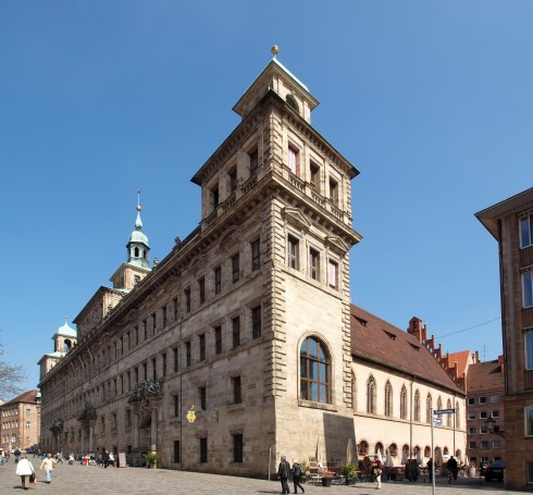Rathaus, Nürnberg,Bayern, Unesco Verdensarv, Altstadt, Historisk, Middelalder, Marktplatz, Sør-Tyskland, Tyskland