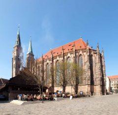 St Sebaldus-Kirche, Nürnberg, Bayern, Unesco Verdensarv, Altstadt, Historisk, Middelalder, Hauptmarkt, Sør-Tyskland, Tyskland