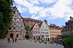 Kaiserburg, Dürer Haus, Nürnberg, Bayern, Unesco Verdensarv, Altstadt, Historisk, Middelalder, Hauptmarkt, Sør-Tyskland, Tyskland