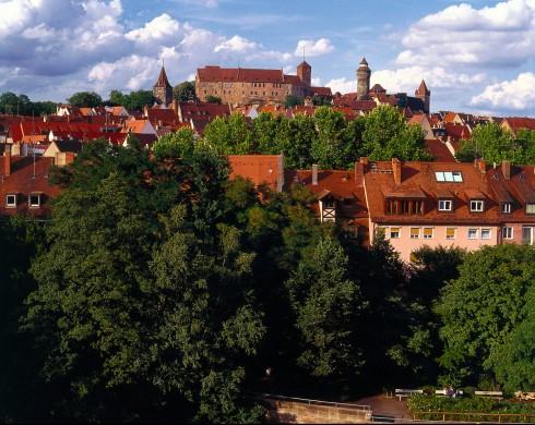 Pegnitz, Nürnberg, Bayern, Unesco Verdensarv, Altstadt, Historisk, Middelalder, Marktplatz, Sør-Tyskland, Tyskland