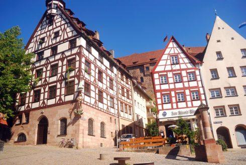 Dürer Haus, Albrecht Dürer, Nürnberg,Bayern, Unesco Verdensarv, Altstadt, Historisk, Middelalder, Marktplatz, Sør-Tyskland, Tyskland