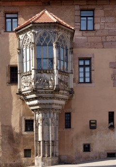 Sebalder Pfarrhof, Nürnberg, Bayern, Unesco Verdensarv, Altstadt, Historisk, Middelalder, Hauptmarkt, Sør-Tyskland, Tyskland