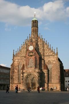Frauenkirche, Hauptmarkt, Nürnberg, Bayern, Unesco Verdensarv, Altstadt, historisk, middelalder, Sør-Tyskland, Tyskland