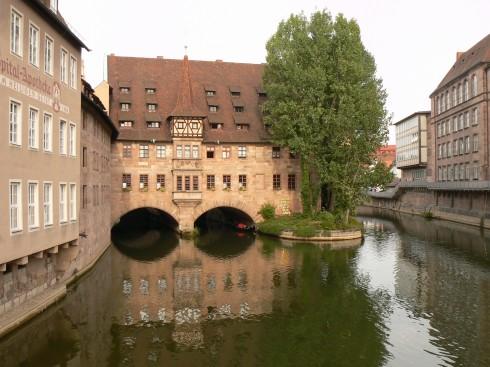 Heilig-Geist-Spital, Nürnberg, Bayern, Unesco Verdensarv, Altstadt, Historisk, Middelalder, Marktplatz, Sør-Tyskland, Tyskland