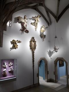 Middelalder-gjenstander i Galeribau, kapell, Germanisches Nationalmuseum Nürnberg