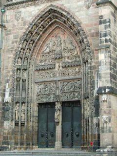 St Lorenz-Kirche, Nürnberg, Bayern, Unesco Verdensarv, Altstadt, Historisk, Middelalder, Hauptmarkt, Sør-Tyskland, Tyskland