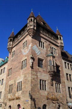 Nassauer Haus, Nürnberg, Bayern, Unesco Verdensarv, Altstadt, Historisk, Middelalder, Hauptmarkt, Sør-Tyskland, Tyskland