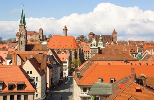 St Sebaldus-Kirche, Nürnberg, Bayern, Unesco Verdensarv, Altstadt, Historisk, Middelalder, Marktplatz, Sør-Tyskland, Tyskland