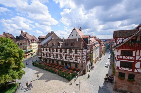 Nürnberg,Bayern, Unesco Verdensarv, Altstadt, Historisk, Middelalder, Marktplatz, Sør-Tyskland, Tyskland