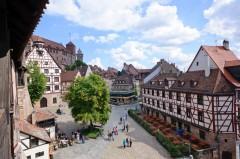 Kaiserburg, Nürnberg, Bayern, Unesco Verdensarv, Altstadt, Historisk, Middelalder, Hauptmarkt, Sør-Tyskland, Tyskland