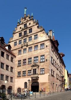 Fembohaus, Burgstrasse 15, Nürnberg, Bayern, Unesco Verdensarv, Altstadt, Historisk, Middelalder, Hauptmarkt, Sør-Tyskland, Tyskland