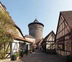 Königstor, Handwerkergasse, Nürnberg, Bayern, Unesco Verdensarv, Altstadt, Historisk, Middelalder, Hauptmarkt, Sør-Tyskland, Tyskland
