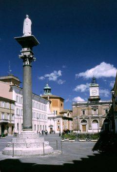 Piazza del Popolo sett fra Palazzo del Comunale, Unesco, Ravenna, Emilia-Romagna, Nord-Italia, Italia
