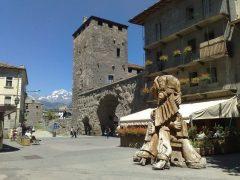Torre dei Signori, Porta Pretoria, Aosta, Valle d'Aosta, Nord-Italia, Italia