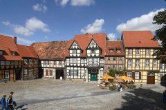 Quedlinburg, bindingsverk, middelalder, Marktplatz, Altstadt, Unesco Verdensarv, Nord-Tyskland, Tyskland