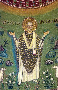 Sant'Apollinare troner i hvelvet i apsiden, Unesco, Ravenna, Emilia-Romagna, Nord-Italia, Italia