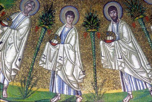 Mosaikker fra Battisteri degli Ariani, Unesco, Ravenna, Emilia-Romagna, Nord-Italia, Italia