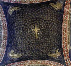 Fra himlingen i Mausoleo di Galla Placida fra 400-tallet, Unesco, Ravenna, Emilia-Romagna, Nord-Italia, Italia
