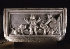 Relikvie fra 300-tallet i Archiepiscopal Museum Ravenna, Unesco, Ravenna, Emilia-Romagna, Nord-Italia, Italia