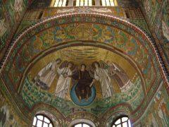 Detalj av mosaikk i San Vitale, Unesco, Ravenna, Emilia-Romagna, Nord-Italia, Italia