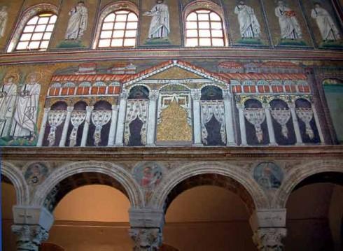 Mosaikker fra Sant'Apollinare Nuovo - av Theodorics palass, Unesco, Ravenna, Emilia-Romagna, Nord-Italia, Italia