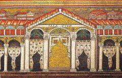 Mosaikker fra Basilica di Sant'Apollinare Nuovo - av Theodorics palass, Unesco, Ravenna, Emilia-Romagna, Nord-Italia, Italia