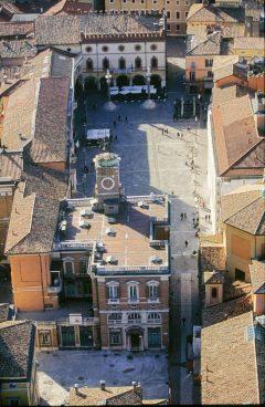 Piazza del Popolo med Palazzo del Comunale, Unesco, Ravenna, Emilia-Romagna, Nord-Italia, Italia