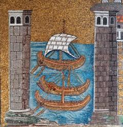 Basilica di Sant'Apollinare Nuovo, havnen i Classe, Unesco, Ravenna, Emilia-Romagna, Nord-Italia, Italia