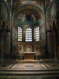 San Vitale, mosaikker, apside, Unesco, Ravenna, Emilia-Romagna, Nord-Italia, Italia