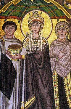 keiserinne Theodoras mosaikk i San Vitale, Unesco, Ravenna, Emilia-Romagna, Nord-Italia, Italia