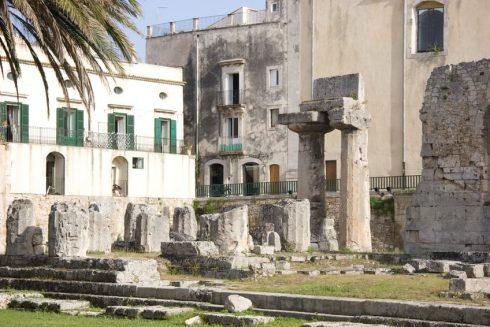 Tempio di Apollo, Ortigia, Siracusa, Sicilia, Italia