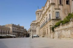 Siracusas Piazza del Duomo, Ortigia, Siracusa, Sicilia, Italia
