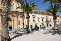 Carmineklosteret med kirken San Carmine, Gamlebyen, Ortigia, Siracusa, Sicilia, Italia