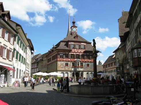 Stein am Rhein, rådhuset, Nord-Sveits, Sveits