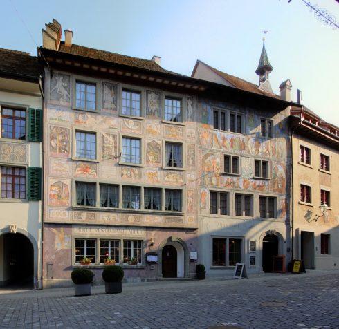 Stein am Rhein, renessansesestil, Zum Weissen Adler, Nord-Sveits, Sveits