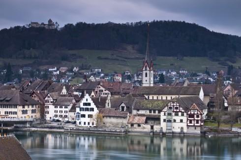 Rhinen, Bodensee, Stein am Rhein, Altstadt, Middelalder, Sveits