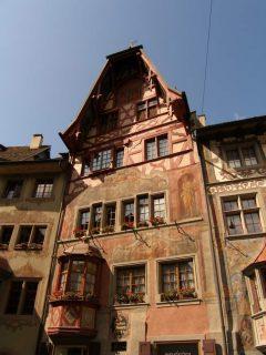 Vertshuset Zur Vordenen Krone, middelalder, Altstadt, Stein am Rhein, Sveits