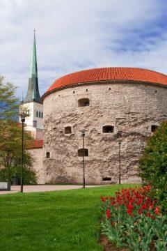 Kanontårn, Tykke Margaret, Tallinns Sjøfartsmuseum, Rådhusplassen, Tallinn, historisk, gamleby, Estland, Unesco Verdensarven, Estland, Baltikum