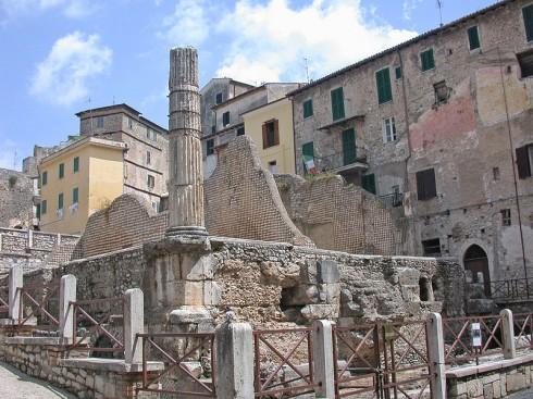 Tempelet Capitolum, Terracina, Lazio, Midt-Italia, Italia