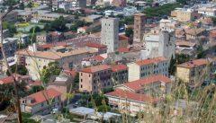 Panorama, Citta Alta, Gamleby, Terracina, Lazio, Midt-Italia, Italia