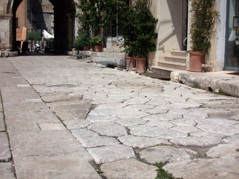 Via Appia, Terracina, Lazio, Midt-Italia, Italia