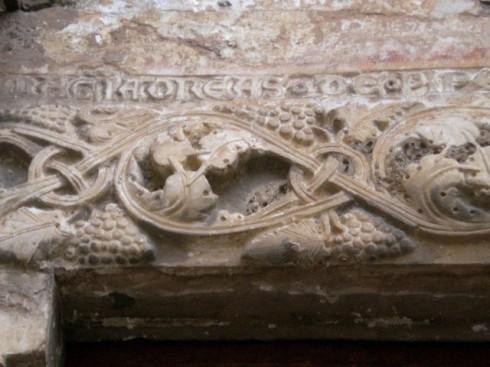 Relieffdekor, Chieas dell'Annunziata fra 1200-tallet, Terracina, Lazio, Midt-Italia, Italia