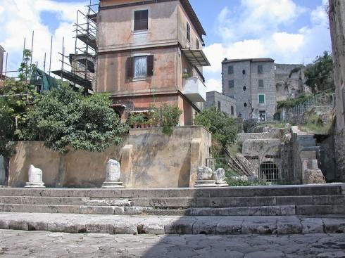 Foro Emiliano og Via Appia, Portico Teatro, Terracina, Lazio, Midt-Italia, Italia