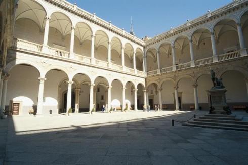Alcazar, enessanse-patio, Toledo, Unescos liste over Verdensarven, Castilla-La Mancha, Midt-Spania, Madrid og innlandet,Spania