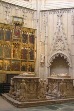 Kongelige sarkofager i Toledo-katedralen, Toledo, Unescos liste over Verdensarven, Castilla-La Mancha, Midt-Spania, Madrid og innlandet,Spania