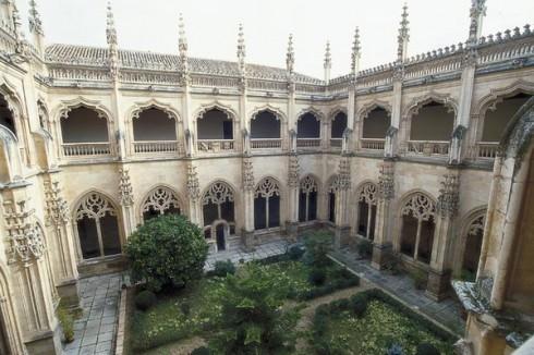 Monasterio de San Juan de los Reyes, isabelliansk gotisk stil, Toledo, Unescos liste over Verdensarven, Castilla-La Mancha, Midt-Spania, Madrid og innlandet,Spania
