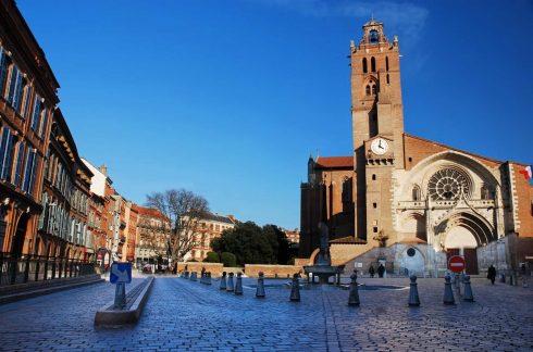 Cathédral St Etienne, Toulouse, Sør-Frankrike, Frankrike